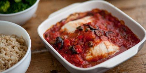 Bacalao al horno con tomate