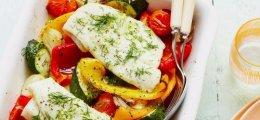 Bacalao al horno con verduras